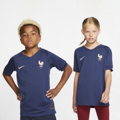 Camiseta de fútbol de local para niño talla grande Stadium de la FFF 2019