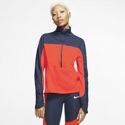 Nike Repel løpeoverdel med glidelås i halv lengde til dame