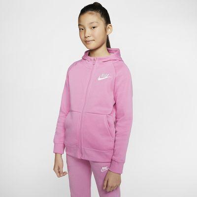 Nike Sportswear hettejakke med hel glidelås til jente