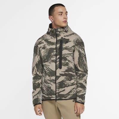 Sweat à capuche entièrement zippé camouflage Nike Sportswear Tech Fleece pour Homme