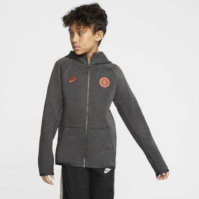 Chelsea FC Tech Fleece Essentials Older Kids' Full-Zip Hoodie