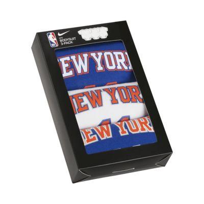 Conjunto de bodies NBA Nike Knicks para bebé (embalagem de 3)