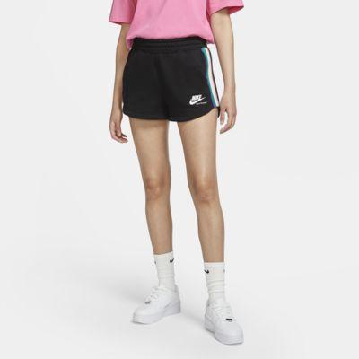 กางเกงขาสั้นผ้าฟลีซผู้หญิง Nike Sportswear Heritage