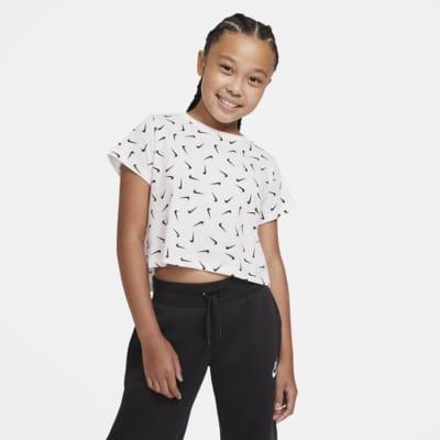 Nike Sportswear Cropped-T-shirt til store børn (piger)