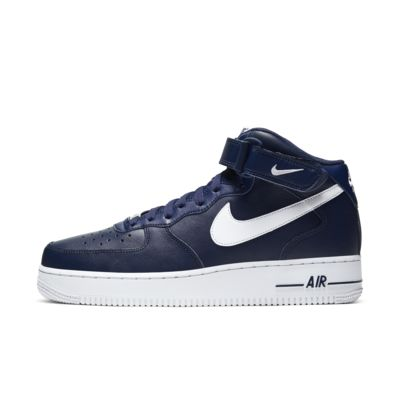 NIKE AIR FORCE 1 MID '07 W STRAP CK4370 400 MIDNIGHT NAVYWHITE 100% AUTHENTIC