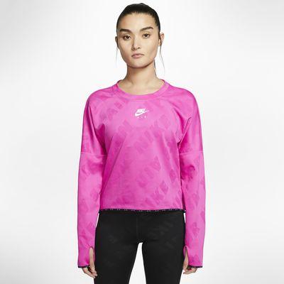 Langærmet Nike Air-løbetop til kvinder