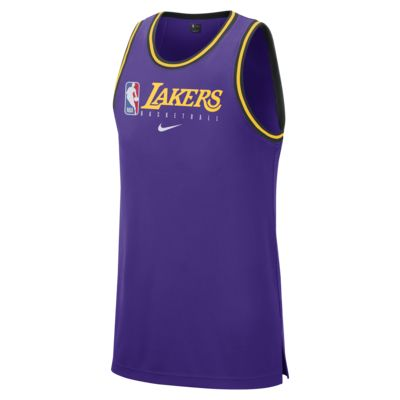 Los Angeles Lakers Nike Dri-FIT NBA-tanktop voor heren