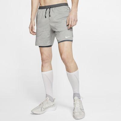 Calções de running 2 em 1 de 18cm Nike Flex Stride para homem