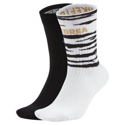 Korea SNKR Sox Shox Soccer Crew Socks (2 Pairs)
