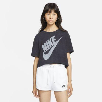 Prenda para la parte superior corta de manga corta para mujer Nike Sportswear