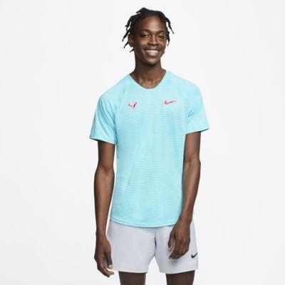 NikeCourt AeroReact Rafa Slam kurzärmliges Tennisoberteil für Herren