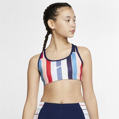 Oboustranná sportovní podprsenka Nike pro větší děti (dívky)