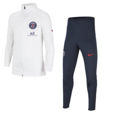 Dzianinowy dres piłkarski dla dużych dzieci Paris Saint-Germain Strike