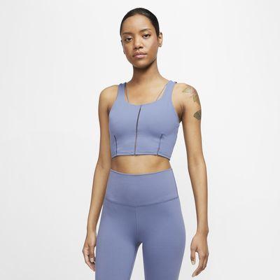 Canotta corta Infinalon Nike Yoga Luxe - Donna