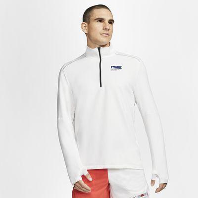 Ανδρική μπλούζα για τρέξιμο με φερμουάρ στο μισό μήκος Nike Blue Ribbon Sports