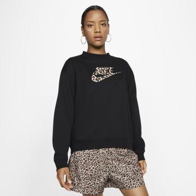 Dámská flísová mikina s kulatým výstřihem Nike Sportswear