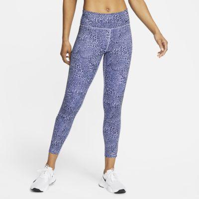 Legging 7/8 taille mi-basse à motif léopard Nike One pour Femme