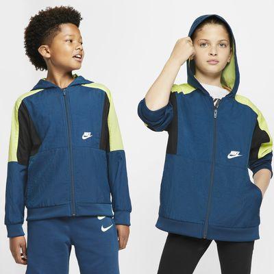 Υφαντό τζάκετ με φερμουάρ σε όλο το μήκος Nike Sportswear για μεγάλα αγόρια