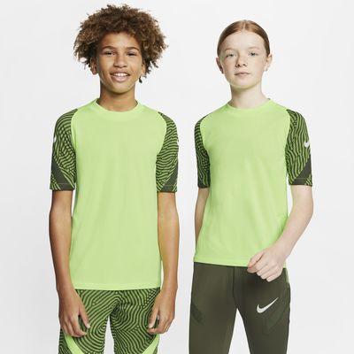 Κοντομάνικη ποδοσφαιρική μπλούζα Nike Breathe Strike για μεγάλα παιδιά