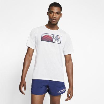 Maglia da running Nike Rise 365 Blue Ribbon Sports - Uomo