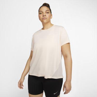 Nike Miler Camiseta de running de manga corta (Talla grande) - Mujer