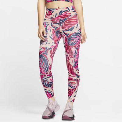 Nike One 7/8-tights met halfhoge taille en print voor dames