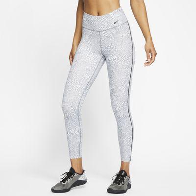 Nike One Women's Leopard Mid-Rise 7/8 Leggings