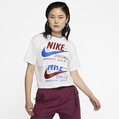 Kortærmet Nike Sportswear Icon Clash-overdel til kvinder