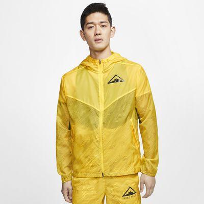 เสื้อแจ็คเก็ตวิ่งเทรลมีฮู้ดผู้ชาย Nike Windrunner
