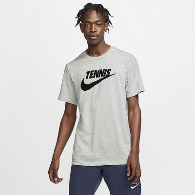 NikeCourt Dri-FIT Grafikli Erkek Tenis Tişörtü