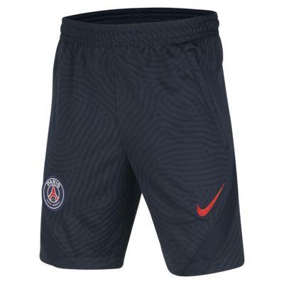 Paris Saint-Germain Strike Older Kids' Jacquard Football Shorts