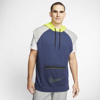 Nike Dri-FIT Fleece-Trainings-Hoodie ohne Ärmel für Herren