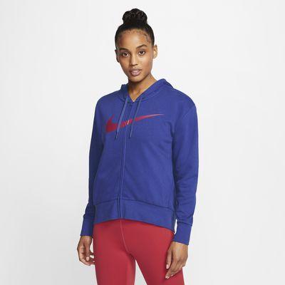 Nike Dri-FIT Get Fit hosszú cipzáras kapucnis női edzőpulóver