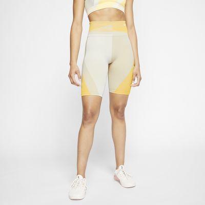 กางเกงเทรนนิ่งขาสั้นผู้หญิง 8 นิ้วไร้ตะเข็บ Nike Icon Clash