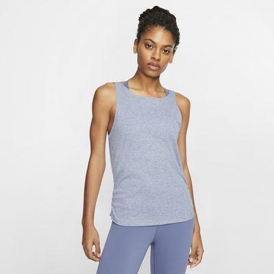 Canotta increspata Nike Yoga - Donna