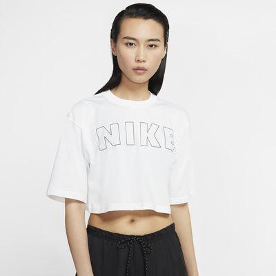 เสื้อยืดเอวลอยผู้หญิง Nike Air