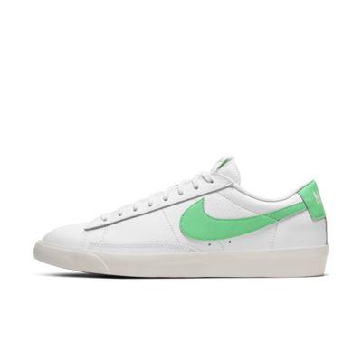 nike blazer low white green
