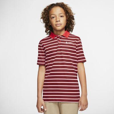 Nike Dri-FIT Victory Boys' Striped Golf Polo