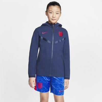 Sweat de football à capuche avec zip Angleterre Tech Pack pour Enfant plus âgé