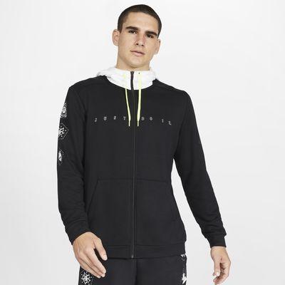 Träningshuvtröja i fleece med dragkedja i fullängd Nike Dri-FIT för män