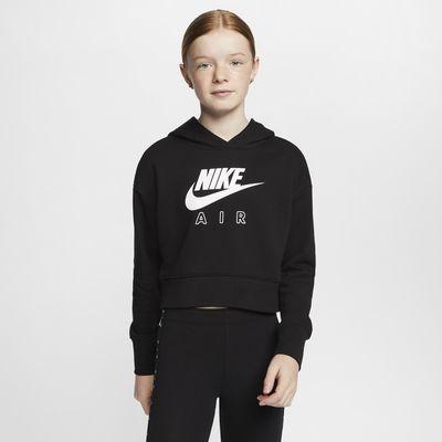 Укороченная худи из ткани френч терри для девочек школьного возраста Nike Air