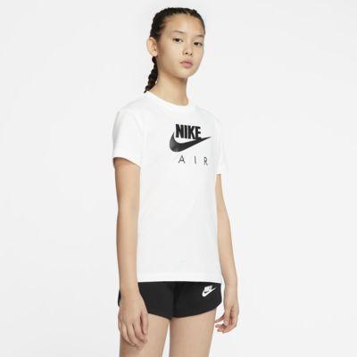 T-shirt Nike Air i bomull för ungdom (tjejer)