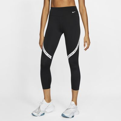 Nike One Damen-Crops mit halbhohem Bund
