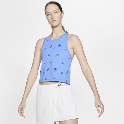 NikeCourt verkürztes Tennis-Tanktop für Damen