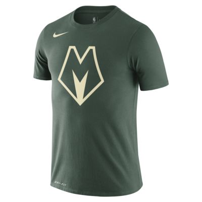 Playera de la NBA Nike Dri-FIT para hombre Bucks City Edition Logo