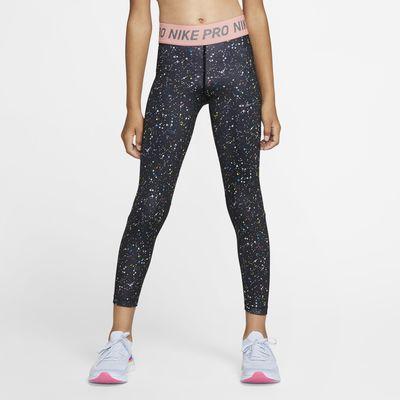 Nike Pro Warm Big Kids' (Girls') Printed Training Tights
