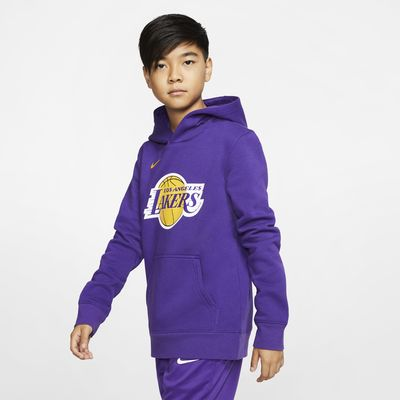Hoodie pullover NBA da Nike Los Angeles Lakers Logo Júnior