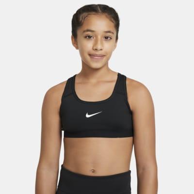 Nike sports-BH til store barn (jente)