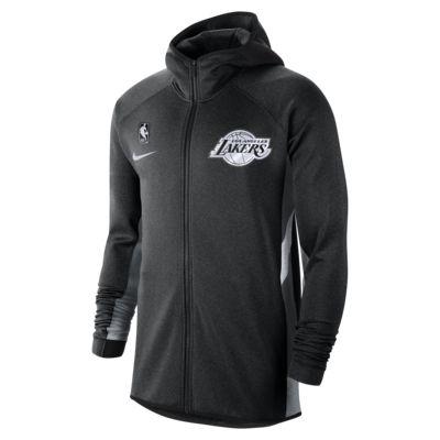 Los Angeles Lakers Nike Therma Flex Showtime NBA-huvtröja för män