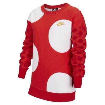 Nike Sportswear 大童(女孩)起绒圆领上衣